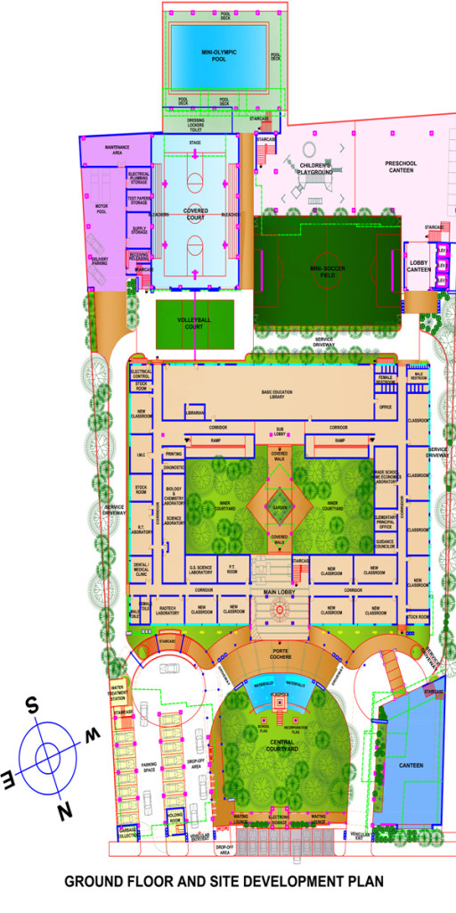 LICEO Ground Floor and Site Development Plan colored